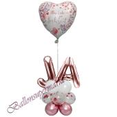 Stilvolle Ballondeko, Alles Liebe zur Hochzeit Mauve - Ja