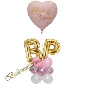 Stilvolle Ballondeko, Always & Forever mit den Anfangsbuchstaben der Brautleute, Dekobeispiel