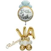 Stilvolle Ballondeko, Best Wishes mit den Anfangsbuchstaben der Brautleute, Dekobeispiel