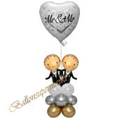 Stilvolle Ballondeko, Mr & Mr Hochzeitspaar