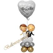 Stilvolle Ballondeko, Mr & Mrs Hochzeitspaar