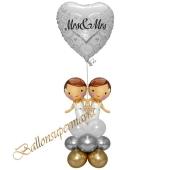 Stilvolle Ballondeko, Mrs & Mrs Hochzeitspaar