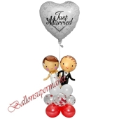 Stilvolle Ballondeko, Just Married Hochzeitspaar
