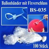 Ballonbänder mit Patent-Fixverschluessen, BS-035, 100 Stück