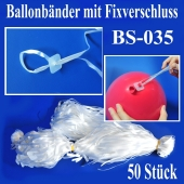 Ballonbänder mit Patent-Fixverschluessen, BS-035, 50 Stück