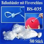Ballonbänder mit Patent-Fixverschluessen, BS-035, 500 Stück