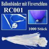 Ballonbänder mit Patent-Fixverschluessen, RC001, 1000 Stück