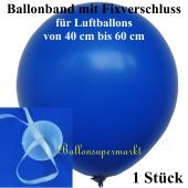 Ballonband mit Fixverschluss, für Luftballons von 40 cm bis 60 cm, 1 Stück