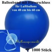 Ballonband mit Fixverschluss, für Luftballons von 40 cm bis 60 cm, 1000 Stück