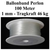 Ballonband Perlon, 100 Meter, Tragkraft 46 kg, 1mm, Band für Luftballons