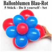 Ballonblumen-Blau-Rot-5-Stueck-Do-it-yourself-Set