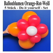Ballonblumen-Orange-Rot-Weiß-5-Stueck-Do-it-yourself-Set