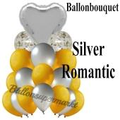 Ballon-Bouquet Silver Romantic mit 18 Luftballons