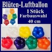 Ballondeko Blüten Luftballon in Kristallfarben mit Farbauswahl