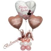 Individuelle Ballondeko, Ewige Liebe mit den Namen der Brautleute und Hochzeitsdatum, Dekobeispiel