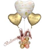 Individuelle Ballondeko,Traumpaar mit den Namen der Brautleute und Hochzeitsdatum, Dekobeispiel