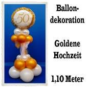 Ballondekoration Goldene Hochzeit, 50. Jubiläum, Goldene 50