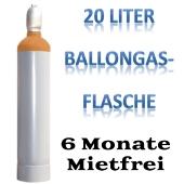 Ballongas Helium 20 Liter Flasche 6 Monate mietfei