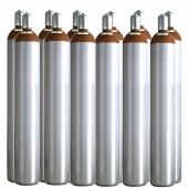 Ballongas Service Großraum NRW Deutschland 12 Ballongasflaschen 50 Liter, 99,996 reines Helium