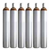 Ballongas Service Großraum NRW Deutschland 6 Ballongasflaschen 50 Liter, 99,996 reines Helium