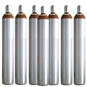 Ballongas Service Großraum NRW Deutschland 7 Ballongasflaschen 50 Liter, 99,996 reines Helium