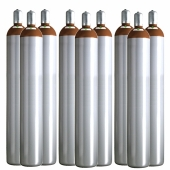Ballongas Service Großraum NRW Deutschland 9 Ballongasflaschen 50 Liter, 99,996 reines Helium