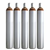Ballongas Service NRW 5 Ballongasflaschen 50 Liter, 99,996 reines Helium