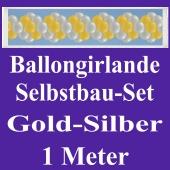 Girlande aus Luftballons, Ballongirlande Selbstbau-Set, Gold-Gelb, 1 Meter