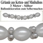 Ballongirlande zum Selbermachen - Dekoration Silberne Hochzeit