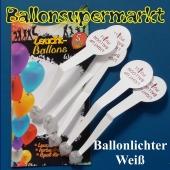 LED Ballonlichter für Luftballons, 5 Stück, weiß leuchtende Ballonbeleuchter