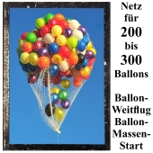 Ballonnetz, Netz für 200 bis 300 Luftballons zu Ballonmassenstart und Ballonweitflug