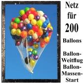 Ballonnetz, Netz für 200 Luftballons zu Ballonmassenstart und Ballonweitflug