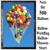 Ballonnetz, Netz für 500 Luftballons zu Ballonmassenstart und Ballonweitflug