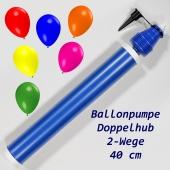 Ballonpumpe mit Doppelhub, 2-Wege