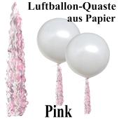 Ballonquaste aus Papier Pink