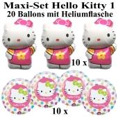 Ballons Helium Set Maxi Hello Kitty, Kindergeburtstag
