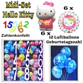 Ballons Helium Midi Set Hello Kitty