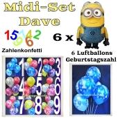Ballons Helium Midi Set Dekoration Minions Dave