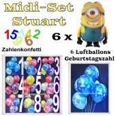 Ballons Helium Midi Set Dekoration Minions Stuart