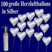 ballons-helium-set-100-grosse-herzluftballons-in-silber-mit-ballongasflasche