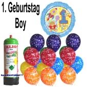 Ballons Helium Set zum 1. Geburtstag, Boy, Junge