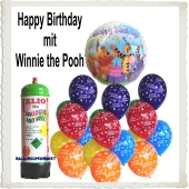 Ballons Helium Set Mini Kindergeburtstag mit Winnie the Pooh