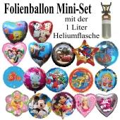 Ballons Helium Set Mini mit Folienballons zur Auswahl