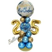 LED Ballondeko zum 25. Geburtstag in Blau und Gold