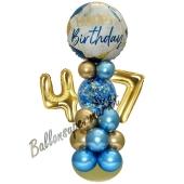 LED Ballondeko zum 47. Geburtstag in Blau und Gold
