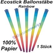 Ecostick Ballonstab aus 100 % Papier, Rainbow, 1 Stück
