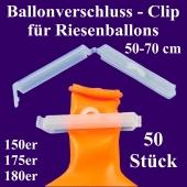 Ballonverschlüsse, Clips für Riesenballons aus Latex von 50 cm bis 70 cm, 50 Stück