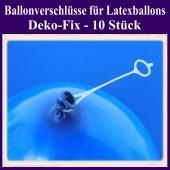Ballonverschlüsse für Luftballons aus Latex, Deko-Fix, 10 Stück