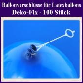 Ballonverschlüsse für Luftballons aus Latex, Deko-Fix, 100 Stück