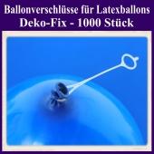 Ballonverschlüsse für Luftballons aus Latex, Deko-Fix, 1000 Stück